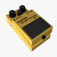 overdrive pedal 3d model