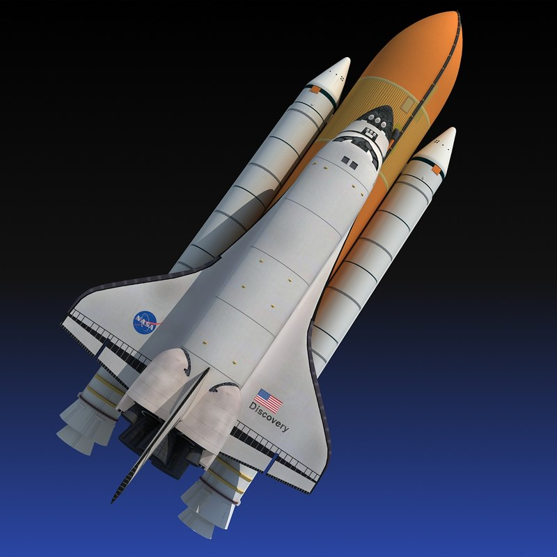 Nasa space shuttle discovery obj - Small space shuttle model ...