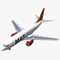 3d b 737-500 macedonian airlines model
