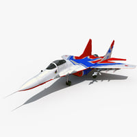 3d model of mig 29smt 2 rigged