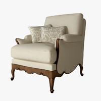 salda armchair 8507 3d model