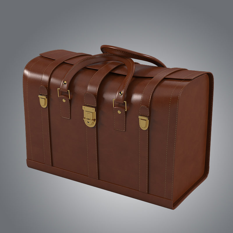 b Trunk leather bag briefcase case mens modern contemporray vintage luxury big reinforced travel.jpg