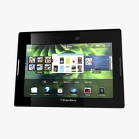 blackberry playbook tablet 3d max