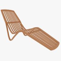 Wooden Sunlounger
