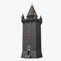 scrabo tower 3d model