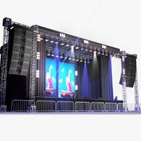 live stage lights 3d model
