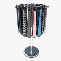 tie rack display 3d 3ds