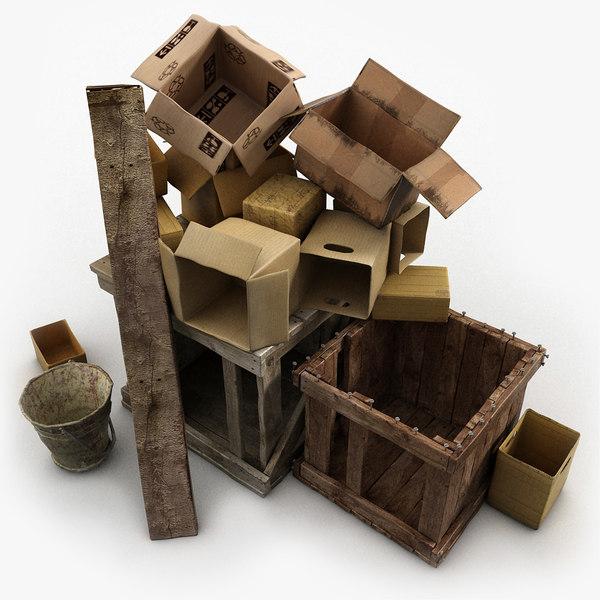3ds max junk wood paper