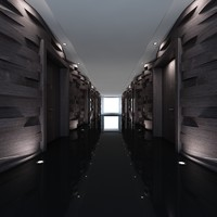 3d obj corridor interior