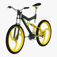 3d bicycle 3 model
