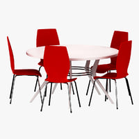 3d dinner table 5 model