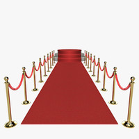 3d model red carpet scene