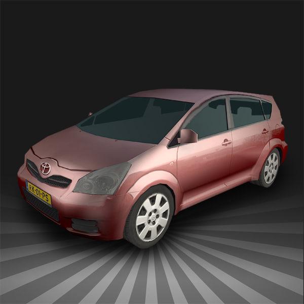 Low Poly Toyota Corolla Verso
