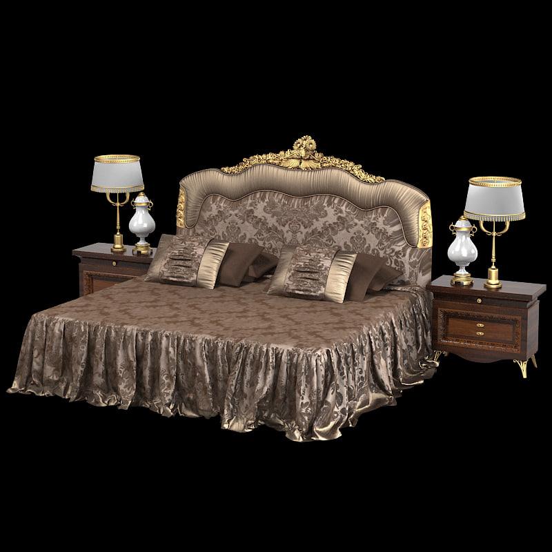3d zanaboni 445 classic baroque for Baroque bedroom furniture