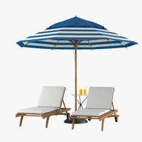 Sun Lounger Beach Set