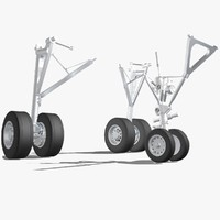 airbus a320 landing gear 3d model
