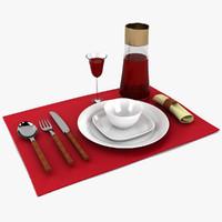 3d model dinner set