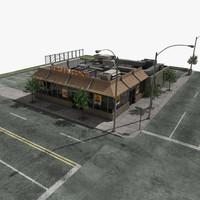 3d model fastfood restaurant