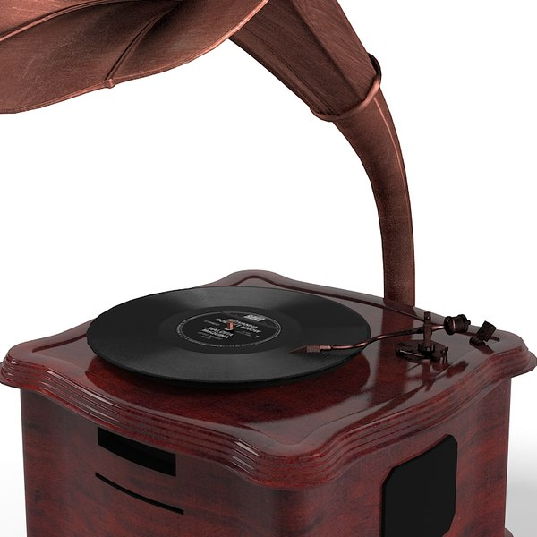 3ds phonograph gramaphone - Gramophone Rerto... by shop3ds