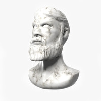 3d marble bust model
