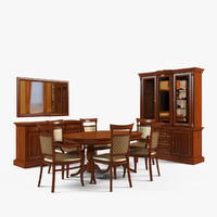 3d dining room furniture 2