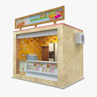 3d model of icecream shop park
