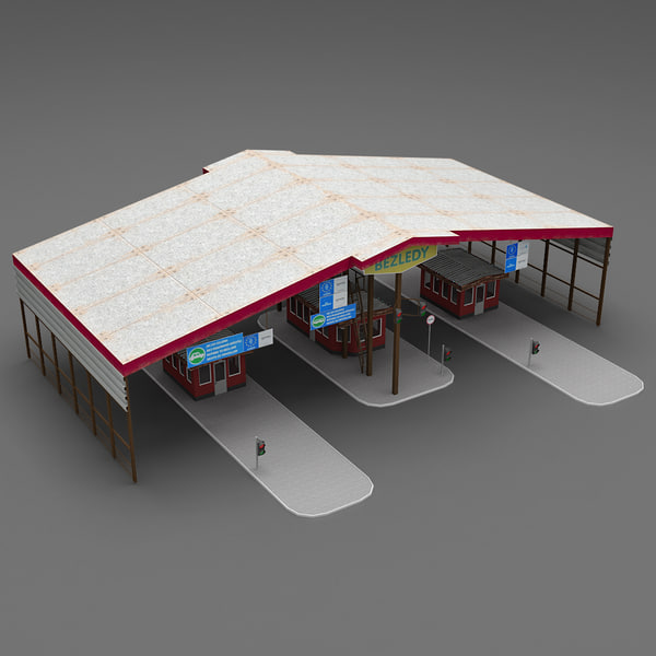 3d model realistic casello modelled - Customs Office... by 3d_molier