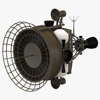 anti satellite target satellite 3D models