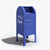 usps mail box 3d max