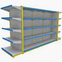 3d model supermarket shelf 5