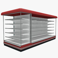 3d model supermarket shelf 7
