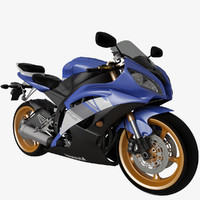 3d model yamaha r6 motorcycle engine