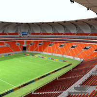 nelson mandela bay stadium 3d model
