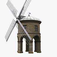 3d model chesterton windmill