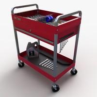 utility cart tools 3d max