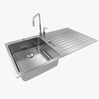 3d max kitchen sink