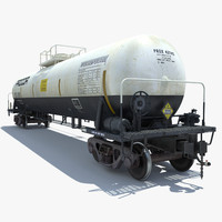 railway cargo cistern train 3d model