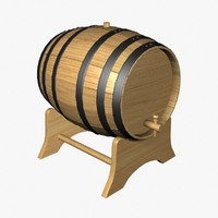 wine barrel 3d 3ds