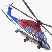 3d model of agustawestland aw139 helicopter