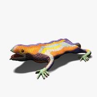 dragon statue barcelona 3d model