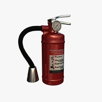 3d extinguisher realistic modelled