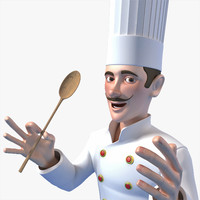 3d model of cartoon chef