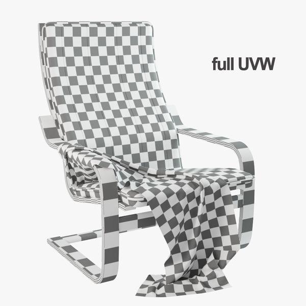 Ikea Poang Chair Living Room: 3d Model Ikea Poang Chair