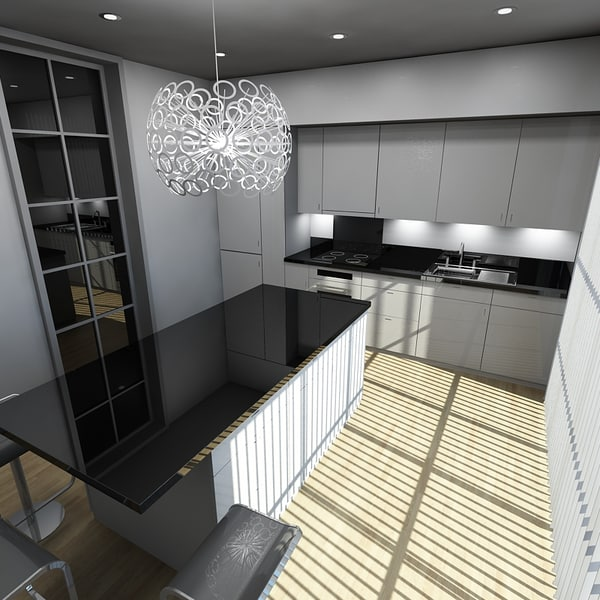 kitchen 2 3d obj - Kitchen 2... by PolygonFactory