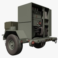 military porter steam cleaner 3d model