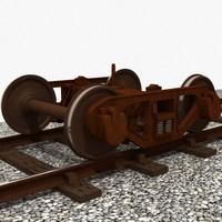 3d train bogie bettendorf style