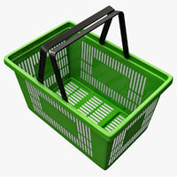 3d shopping basket model