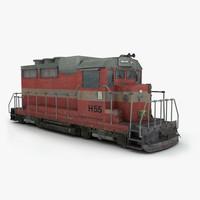 worker train 3d model
