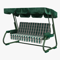 outdoor garden swing sofa 3d obj