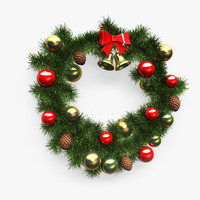 3d model of christmas wreath